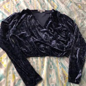 Cropped Velvet Long Sleeve